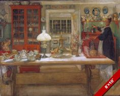 GETTING-READY-FOR-A-GAME-PAINTING-BY-CARL-LARSSON-SWEDISH-ART-REAL-CANVAS-PRINT