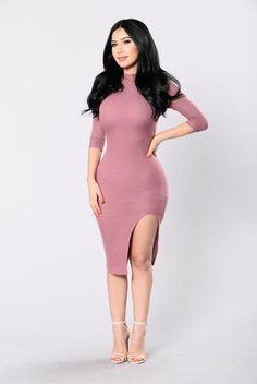 Electric Avenue Dress - Mauve