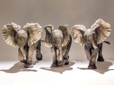 Nick Mackman has an exhibition of her incredible sculptures at Beaux Arts, Bath November to December 2014 XXX Elephant Trunk Up, Elephant Home Decor, Elephant Love, Elephant Art, Elephant Gifts, Elephant Sculpture, Sculpture Clay, Ceramic Sculptures, Elephants Never Forget