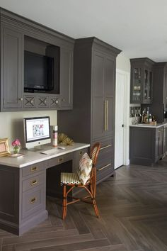 The desk will allow you to do many things from your kitchen