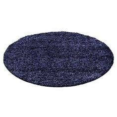 Shaggy-Teppich Riam in Marineblau Zipcode Design Teppichgröße: Rund 160 cm Dark Grey Rug, Black Rug, Brown Rug, Navy Rug, Duck Egg Blue Rugs, High Pile Rug, Carpet Size, Machine Made Rugs, Dark Blue