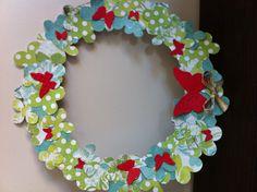 Butterfly Paper wreath