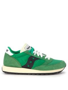 SAUCONY Sneaker Saucony Jazz Vintage In Green Suede And Nylon.  saucony   shoes   a2b82f021a3