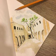 #3 #palermo #sicily #chiesadisantamariadellospasimo #sicilia #italy #sketchingitaly #sketch #sketchbook #watercolor #watercolorillustration #illustration #illustrationoftheday #illustrator #lovingitaly #italiantrip #ink #inkillustration #sketchbookproject