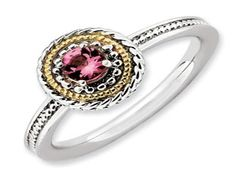 Zales Stackable Expressions Garnet Double Square Ring in Sterling Silver iYjiV