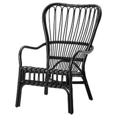 STORSELE Armchair IKEA - Black Rattan Chair - See how we plan to use it at the Granada House, we can't wait to get this chair in our space. Ikea for the win! Check out our plans for the Granada house at Hello Good Design. Chaise Ikea, Rattan Armchair, Rattan Furniture, Outdoor Furniture, Rattan Chairs, Eames Chairs, Chair Cushions, Armchairs, Pillows