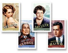 Hollywood Legends Stamps - Canada