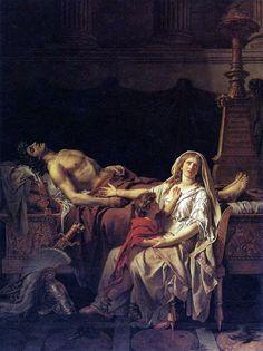 Jacques-Louis David, La Douleur et les Regrets d'Andromaque sur le corps d'Hector son mari, 1783.