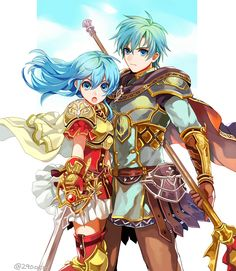 Eirika and Ephraim (the art style is really cute! I love it)
