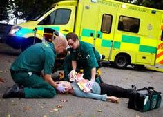 Paramedics: healthcare worker who works as part of emergency medical services (ex:ambulance).