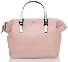 Kate Spade Waverly Street Blaine soft, blush-toned leather bag. $495.00.