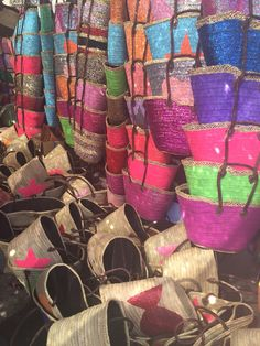 Maroccan weave bags in all colours and patterns