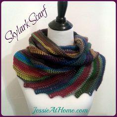 100 Free Crochet Scarf Patterns: Skylark Scarf Crochet Pattern