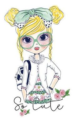 Find Girl stock images in HD and millions of other royalty-free stock photos, illustrations and vectors in the Shutterstock collection. Girl Cartoon, Cute Cartoon, Image Digital, Illustration Girl, Art Plastique, Cute Drawings, Cute Art, Art Girl, Vector Art