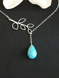 Lariat Necklace - Leaf