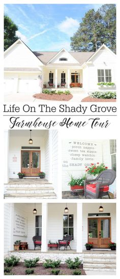 Turned Farmhouse Home Tour White cottage farmhouse home tour, full of vintage finds and lots of DIY!White cottage farmhouse home tour, full of vintage finds and lots of DIY! White Farmhouse Kitchens, Farmhouse Windows, Urban Farmhouse, Modern Farmhouse Exterior, Cottage Farmhouse, White Cottage, Farmhouse Homes, Cottage Homes, Farmhouse Decor