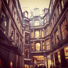 looks just a little like a surten place in Harry potter :) - Denmark Copenhagen Jorkens passage