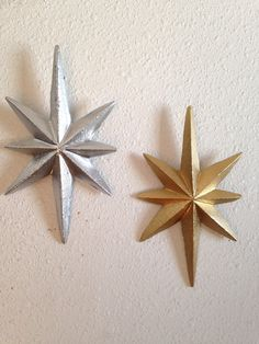 Vintage Cast Iron Starburst Upcycled Wall by EmericksEmporium. Midcentury inspired starburst wall hangers. Retro midmod