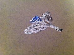 Gouache sapphire ring on Behance