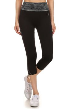 Simlu Activewear High Waisted Yoga Leggings Cropped Capri Leggings for Women