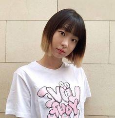 Ulzzang Korean Girl, Female Profile, Hair Dye Colors, Girl Short Hair, Dream Hair, Korean Celebrities, Stylish Hair, Korean Actresses, Me As A Girlfriend