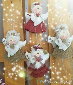 Diy Christmas Angel Ornaments, Felt Christmas Decorations, Ornament Crafts, Xmas Crafts, Felt Ornaments, Christmas Angels, Christmas Art, Christmas Projects, Handmade Christmas