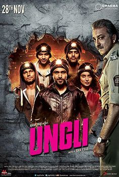 The theatrical trailer and official poster of Karan Johar's 'Ungli', starring Emraan Hashmi, Kangna Ranaut, Sanjay Dutt and Randeep Hooda, is out Perth, Brisbane, Melbourne, Sydney, Movies 2014, Imdb Movies, Top Movies, Films, Film 2014