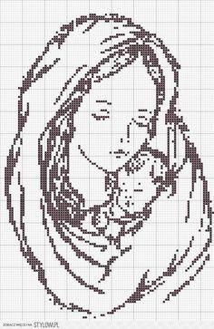 stylowi_pl_diy-zrob-to-sam_haft-krzyzykowy-matka-boska-z-dzieciatkiem-wzor_46363381.jpg (640×985)