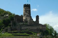 Fürstenberg Castle Ruin, Germany. Built 1219 by order of an archbishop, the bishop of Cologne. It provided protection of his estates and was used for the levying of tolls. Destroyed in the course of the Palatinate Succession War