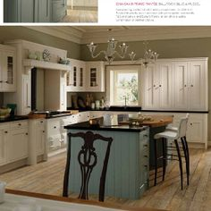 Kitchen Stori: Iona Painted Ballroom Blue and White Cotton. Contact Perini Kitchens & Bathrooms, Richmond for more information on how to get this look in your home!