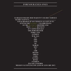 #JamesBond themed 'Shaken not Stirred' wedding invitation by Ananya Cards
