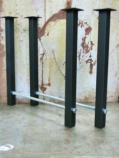 Metal Table Legs Threaded Rod 2x2 by SteelImpression on Etsy
