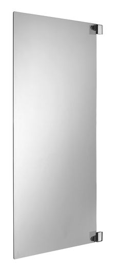 Cooke & Lewis Nile Straight Single Panel Frameless Hinged Bath Screen (W)800mm | Departments | DIY at B&Q