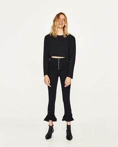 ZARA - WOMAN - METALLIC DETAILS TROUSERS