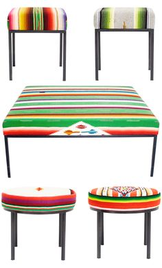 #Mexican #serape stools ABC Home