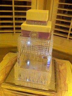 Wedding cake stand we made