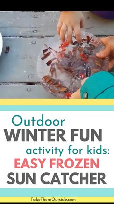 Nature Crafts Here's an outdoor nature activity to do with your kids this winter. Grab some leaves, berries, and a bit of water and make a beautiful ice lantern winter craft to decorate your porch or trees. Winter Activities For Toddlers, Winter Outdoor Activities, Forest School Activities, Snow Activities, Outside Activities, Nature Activities, Winter Crafts For Kids, Winter Fun, Kids Cooking Activities