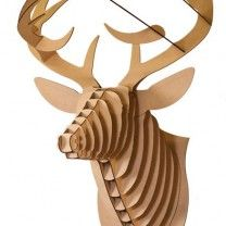 medium deer trophy white or brown or door