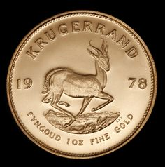 South African Krugerrand. South African Krugerrands were first issued in 1967 and are legal tender. Each coin contains a full troy ounce of gold. Copper is added to the gold content to make each coin hard enough to resist denting and scratching. The obverse of this 22 Karat coin depicts Paul Kruger, President of the original South African Republic from 1883 to 1902. The reverse portrays the springbok, the national animal of South Africa. Origin: S. Africa | Year: 1975. Call for price quotes.