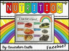 Eat a Rainbow nutrition printables freebie