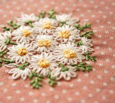 マーガレットの刺繍