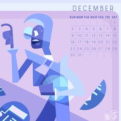 2018 Calendar the birthstone of December: Zircon! December facts: Two giant women celebrate their birthday in the last month of the year! First is everyone's fav purple rapper monster mom SUGILITE...