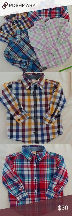 Gymboree BRIGHT IDEAS Girl/'s Blue White Chambray Dot Shirt L//S NWT 7 Button Down