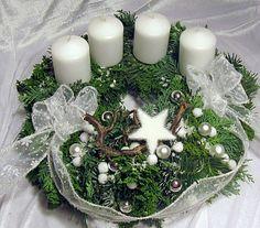 """Adventskranz """"Schneegestöber"""" frisch gebunden von Blumenträume Hübsch  auf DaWanda.com"""
