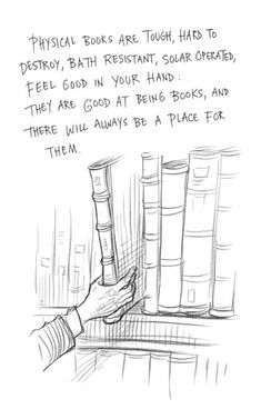 Neil Gaiman and Chris Riddell on why we need libraries – an essay in pictures Page 12 of Neil Gaiman and Chris Riddell's book Art Matters. ART MATTERS by Neil Gaiman, illustrated by Chris Riddell is published by Headline on September Reading Quotes, Book Quotes, Quotes Quotes, Reading Posters, Dream Quotes, George Orwell, Haruki Murakami Libros, I Love Books, Books To Read