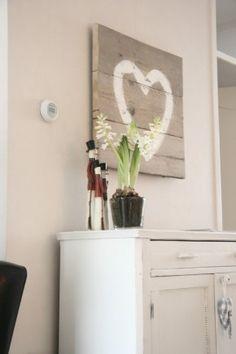 Steigerhouten hartenluikje steigerhouten decoratie pinterest bekijk de beste idee n over - Decoratie schilderij gang ...