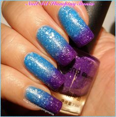 Glitter Thermal Nail Polish Violet-Light Blue from Born Pretty - Swarches and Review