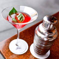 Cheers to Strawberry Basil Infusion! Seasons 52, Martini, Basil, Strawberry, Tableware, Glass, Cheers, Dinnerware, Drinkware