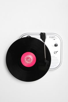 Vertical Wall Turntable: Runs on 4 AA batteries. $98 #Turn_Table #Record_Player