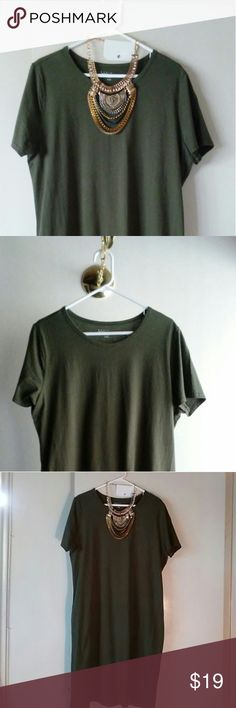 Green Dress Short sleeve Army Greene dress.Knee length and 100%cotton.NWOT willing to bundle Dresses